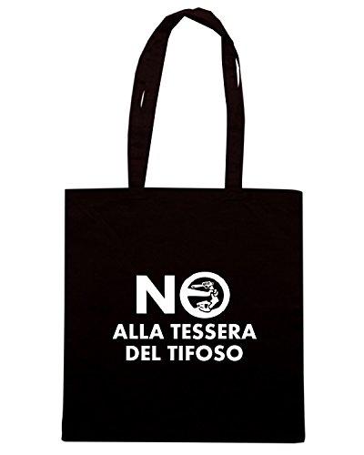 T-Shirtshock - Borsa Shopping TUM0049 ultras no alla tessera del tifoso Nero