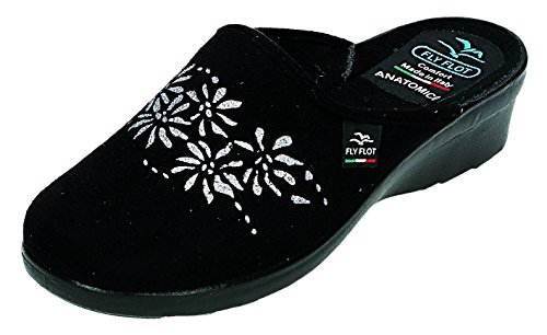 Fly Flot, Pantofole donna nero nero Nero