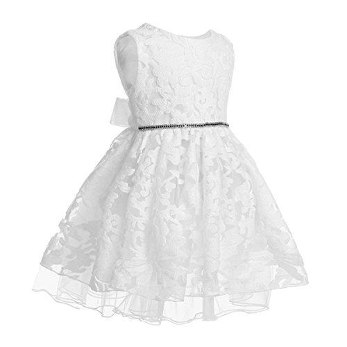 Mädchen festlich weiß Hochzeit sommer Kleid 68 74 80 86 92 98 Blumenmädchen Kleider Weiß 92-98 (Herstellergröße: 90) (Kleid Für Blumenmädchen Bei Hochzeiten)