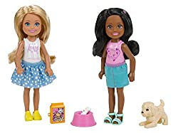 Barbie Fhk97 Club Chelsea Pet 2 Pack Fashion Doll Playsets