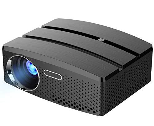 PYXZQW Beamer Projektor tragbare intelligente hd führte 1800 Lumen 30000 Stunden geeignet für heimkino Unterhaltung Party Business Spiele