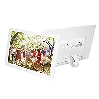 ألبوم الصور الرقمي بشاشة إل إي دي 12.1 بوصة من أونورال عالي الدقة 1280 × 800 (16: 9) مشغل فيديو عالي الدقة 1080P مع جهاز التحكم عن بعد قابس المملكة المتحدة أبيض UK Plug LMZHONORALLD5951W-UKSA