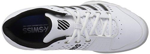 K-Swiss Performance Bigshot Light Ltr, Chaussures de Tennis Homme Blanc (White/black/silver)