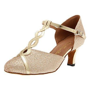 Silence @ Chaussures de danse pour femme moderne Paillettes scintillantes Talon Argenté/doré doré