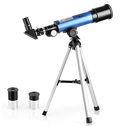TELMU - Telescopio Astronomico 50mm para Niños F36050M Oculares Huygoens de H6mm y H20mm