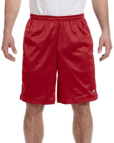 Champion Long Mesh Men's Shorts With Pockets Scharlachrot