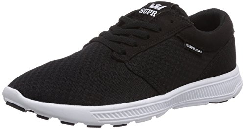 Supra HAMMER RUN, Low-Top Sneaker unisex adulto, Nero (Schwarz (BLACK/BLACK - WHITE     BBW)), 44