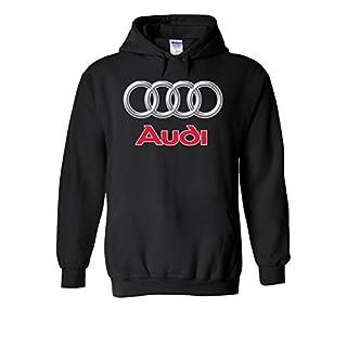 Audi Logo S Line R8 German Car Cool Novelty Black Men Women Unisex Hooded Sweatshirt Hoodie-XL