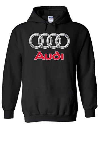 Audi Logo S Line R8 German Car Cool Novelty Black Men Women Unisex Hooded Sweatshirt Hoodie