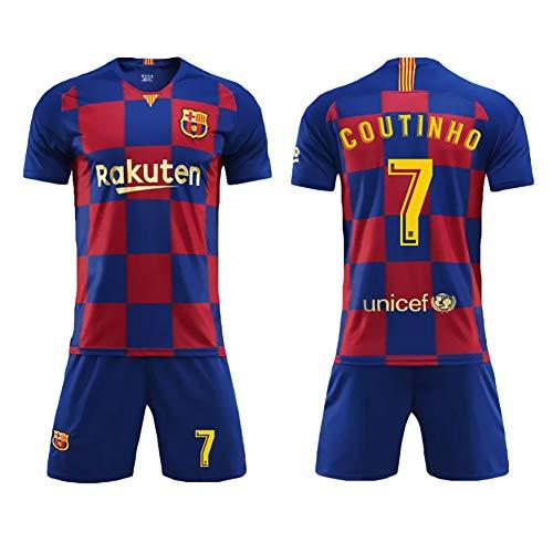 Fußballbekleidung Anzug Barcelona Home Plaza Trikot Neue 10. Messi Coutinho Kinder Erwachsene Sport Fußballbekleidung Anzug-7-child18
