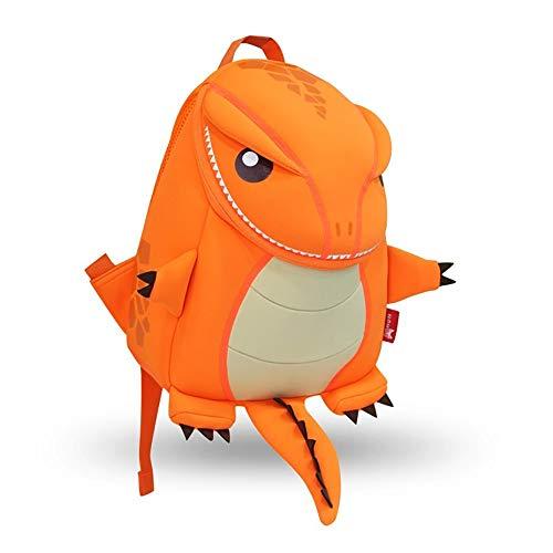 Mochila de Dinosaurio para niños Niño Tyrannosaurus Rex Nursery Bag Girl Boy School Bag Bolsa de Almuerzo Colección Dino (Naranja T-Rex M Tamaño)