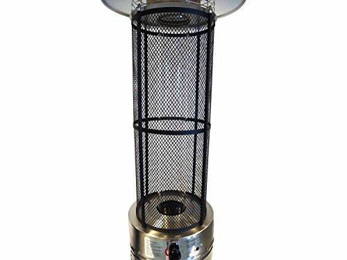 Traedgard Heizstrahler California Edelstahl mit Glasröhre, Höhe 185 cm inkl. Rollenset, Schutzhülle und Gastroset - 5
