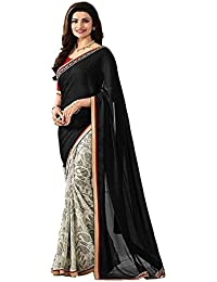 saree center Women's Clothing Georgette Saree Latest Party Wear Design Free Size Saree With Blouse Piece(Sarees for women latest design sarees new collection 2018 sarees below 1000 rupees sarees below 500 rupees party wear sarees for women party wear sarees above 1000 rupees sarees above 2000 rupees sarees above 1000 sarees all sarees above 500 rupees a party wear sarees)