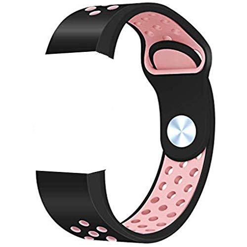 Preisvergleich Produktbild traline Ersatz für Fitbit Charge 3 Silikon-Armband Doppelte Farben Verstellbares Handgelenk Ersetzen Sie den Riemen 5, 5-8, 1 Zoll