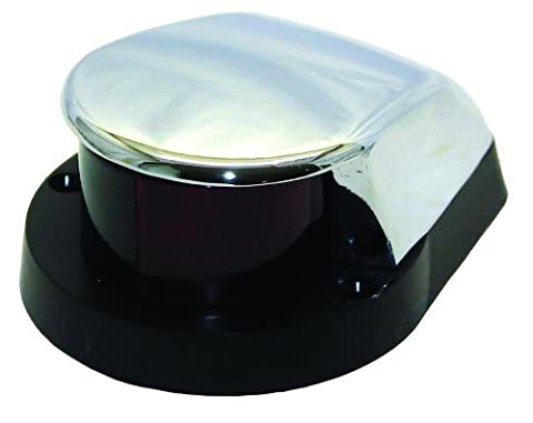 Invincible Marine Bi-Color Bow Navigation Light with Large Chrome Zamak Housing by Invincible Marine