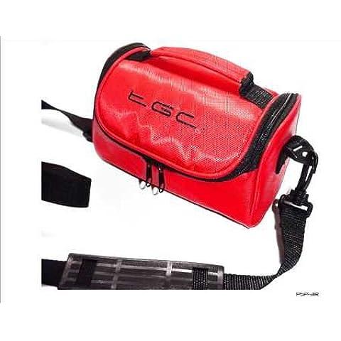 Sony PSP Slim 2000 3000 rojo bolsa de viaje para consola