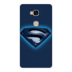 Neo World Premium Blue Day Ready Back Case Cover for Huawei Honor 5X