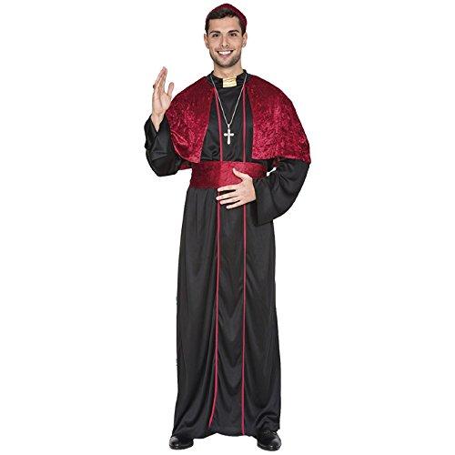 m Gr. 50-54 Samt Kostüm Bischof Papst Nikolaus Geistlicher Kirchenmann (Papst Hut Kostümen)