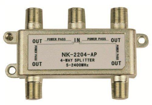 4 voies coaxial répartiteur pour satellite et câble systèmes 1 entrée et 4 sorties