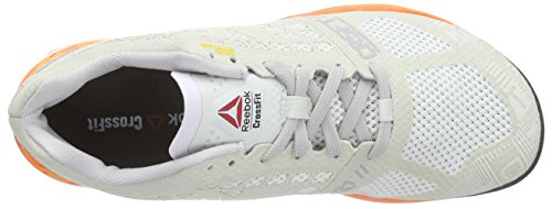 Reebok Damen Crossfit Nano 5.0 Laufschuhe Weiß (Opal/Steel/Electric Peach/Blk/Shark/Atomc Red)
