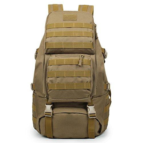 Imagen de huntvp  de asalto 50l estilo militar táctical gran  de marcha impermeable bolsa de hombro al air libre senderismo trekking alpinismo camping
