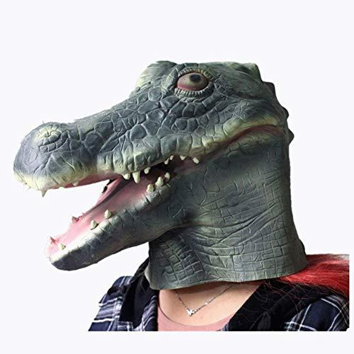 Krokodil Kopf Kostüm - Dajie Kopf Latex Maske, Neuheit Halloween
