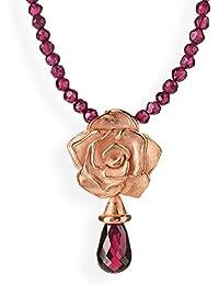 Damen-colgante drachenfelshotel Rose of Antoine 925 plateado granate corte brillante - D ROF 31-5/RG