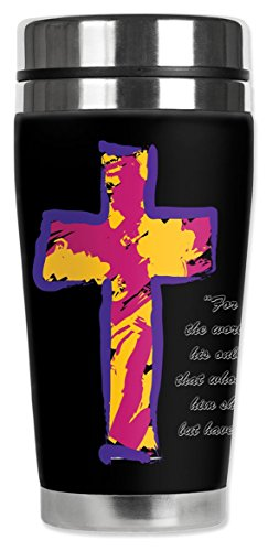 Mugzie ® MAX; 20 oz Thermobecher Edelstahl mit isolierten Neoprenanzug ABDECKUNG-John 3:20 (Neoprenanzug John)