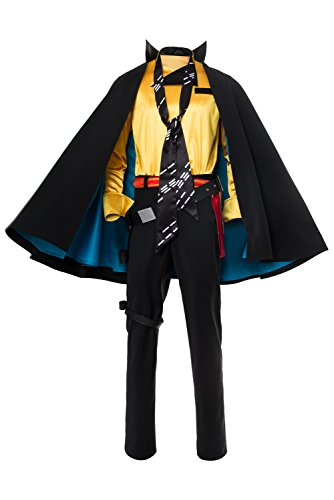 Solo: A Star Wars Story Lando Calrissian Umhang Suit Cosplay Kostüm Herren - Star Wars Lando Calrissian Kostüm