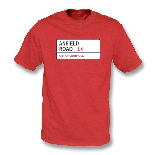 T-Shirt Liverpool Anfield-Straßen-L4 Rot