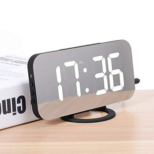 Espejo LED Despertadores Reloj Digital LED Hora De