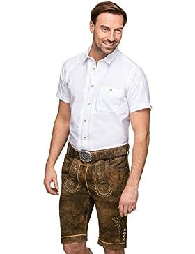 Stockerpoint Lederhose mit Gürtel Sepp braunantik