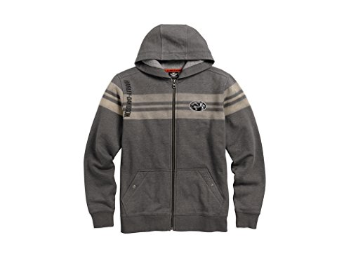 Harley-Davidson Men's Chest Stripe Hoodie, 96492-17VM, XL (Pullover Chest Stripe)
