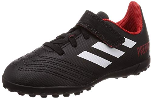 163d34bd2a97 Adidas Predator Tango 18.4 TF J H&L, Botas de fútbol Unisex niño, Negro  (Negbás/Ftwbla/Rojo 001), 29 EU