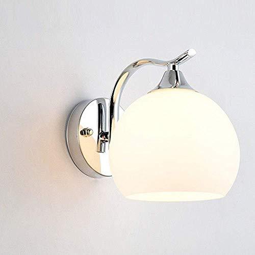 Applique lampade da corridoio lampade frontali a specchio lampade da corridoio lampade da parete moderne e minimaliste infissi lampade da parete sferiche a led con paralume in vetro bianco latte lamp