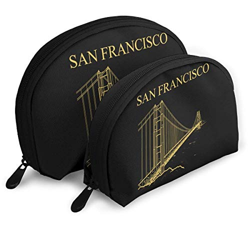 p Storage Bags Golden Gate Bridge Funny Logo Travel Waterproof Toiletry Organizer Clutch Pouch for Women ()