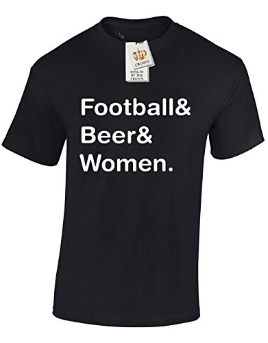 FOOTBALL-BEER-WOMEN-Funny-Cool-Gift-For-Men-Teenagers-T-Shirts-Tops