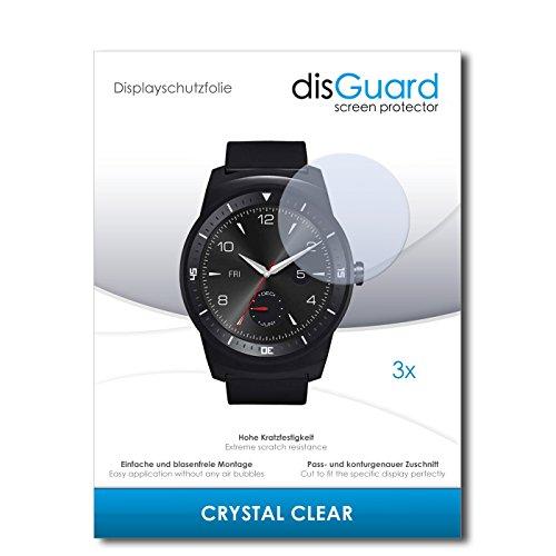 disGuard Pellicola Protettiva [Crystal Clear] Compatibile con LG G Watch R [3 Pezzi] Cristallino, Transparente, Invisibile, Ultra...