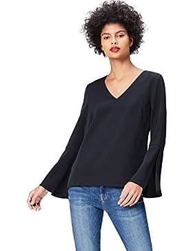 FIND V Neck Flutter Sleeve - Blusa Mujer