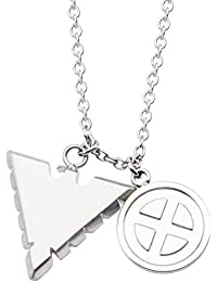 Marvel Comics Unisex Adult Jean Gray Phoenix Stainless Steel Pendant Necklace, Silver, One Size