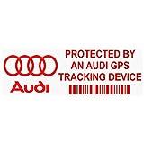 5x ppaudigpsred GPS rot Tracking Gerät Sicherheit Fenster Aufkleber 87x 30mm-car, Van Alarm Tracker