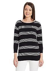 US Polo Association Womens Cotton Sweatshirt (UWFL0128_Black_XXL TF)