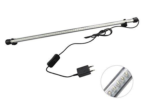 Barra led per acquario impermeabile lampada da immersione luce bianca illuminazione per acquari waterproof lunghezza 60 cm A17