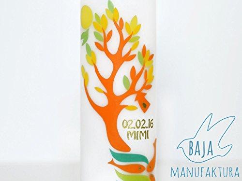 taufkerze-geburtskerze-hochzeitskerze-lebensbaum-orange