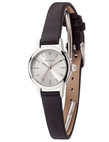 Yves Camani Gardanne - Reloj para mujer, color plateado / negro