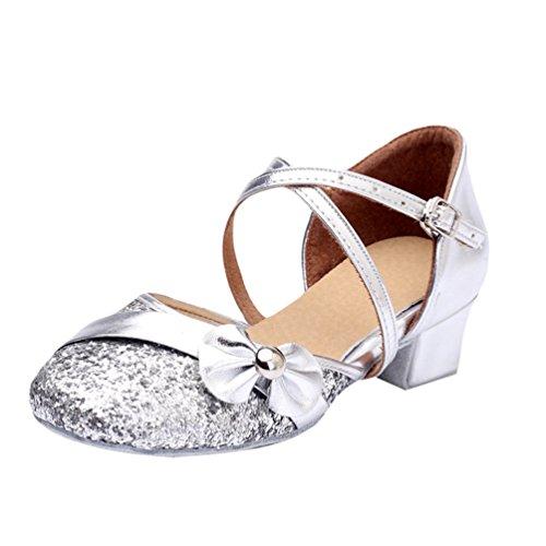 Lihaer sandali per bambini traspiranti in estate scarpe da ballo latino da donna professionale eleganti alla moda