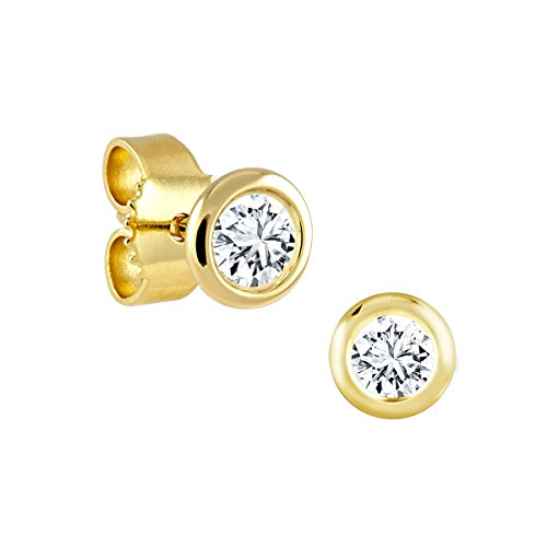 Diamond Line Damen - Ohrstecker 585er Gold 2 Diamanten ca. 0,20 ct., gelbgold Preisvergleich