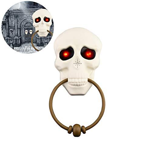 Zombie Clown Unheimlich Kostüm - Pywee Skeleton Head Türklingel Ghost Eyes Glühende Türklingel Halloween Dekoartikel