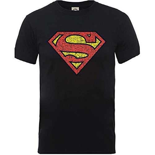 superman-knistern-brust-s-logo-medium-herren-schwarzes-t-shirt-offiziellen