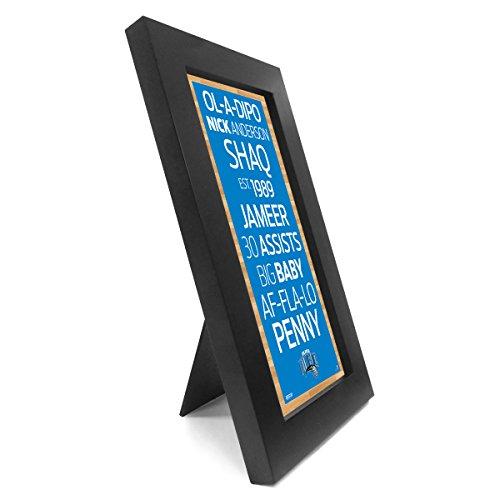Steiner Sports NBA Wandschild mit U-Bahn, gerahmt, 10 x 20 cm, Herren, blau, 12x3x6